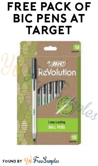 FREE Pack of BIC Pens at Target (Target Circle Required)