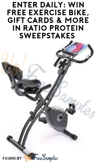 Enter Daily: Win FREE Exercise Bike, Gift Cards & More in Ratio Protein Sweepstakes