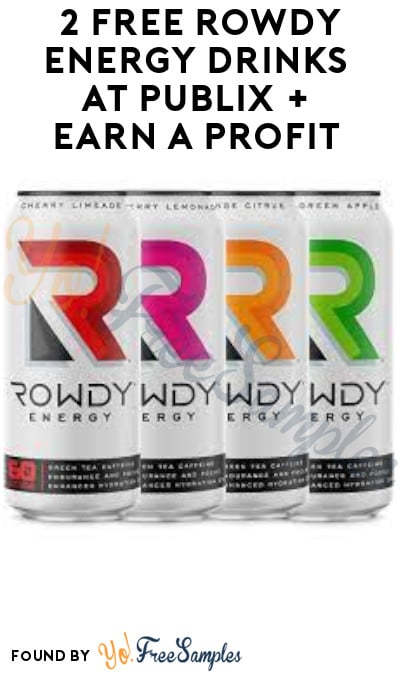 2 FREE Rowdy Energy Drinks at Publix + Earn A Profit (Ibotta Required)