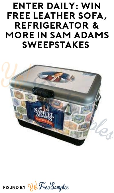 Enter Daily: Win FREE Leather Sofa, Refrigerator & More in Sam Adams Sweepstakes (Ages 21 & Older Only)