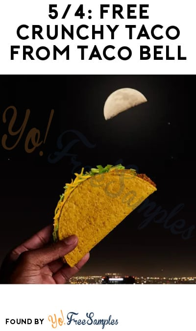 5/4: FREE Crunchy Taco from Taco Bell (App/ Online Only)