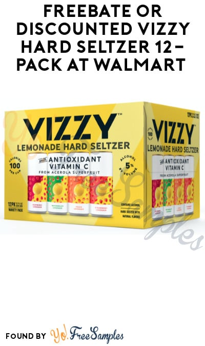 FREEBATE or Discounted Vizzy Hard Seltzer 12-Pack at Walmart (Ages 21+ Only, Select States, PayPal or Venmo Required)