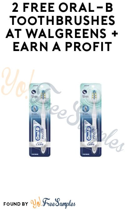2 FREE Oral-B Toothbrushes at Walgreens + Earn A profit (Rewards Card + Ibotta Required)