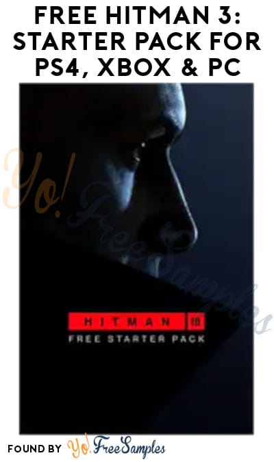 FREE Hitman 3 Starter Pack for PS4, Xbox & PC