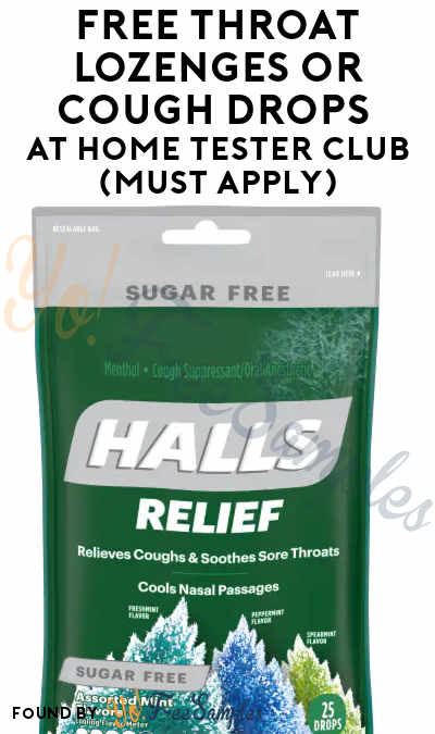 FREE Throat Lozenges or Cough Drops At Home Tester Club (Must Apply)