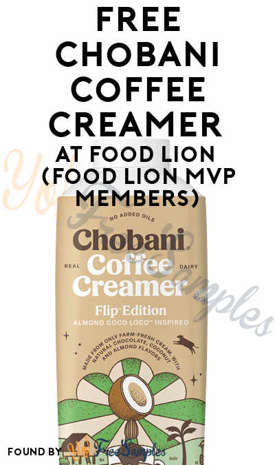 FREE Chobani Coffee Creamer At Food Lion (Food Lion MVP Members)