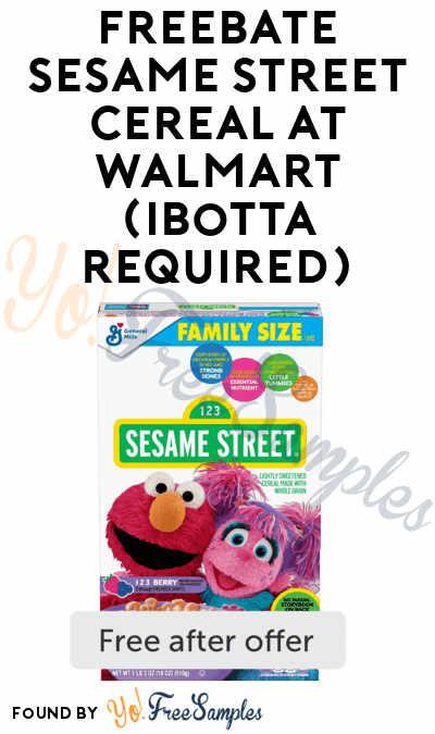 FREEBATE Sesame Street Cereal At Walmart (Ibotta Required)