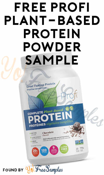 FREE PROFI Plant-based Protein Powder Sample (Survey Required)
