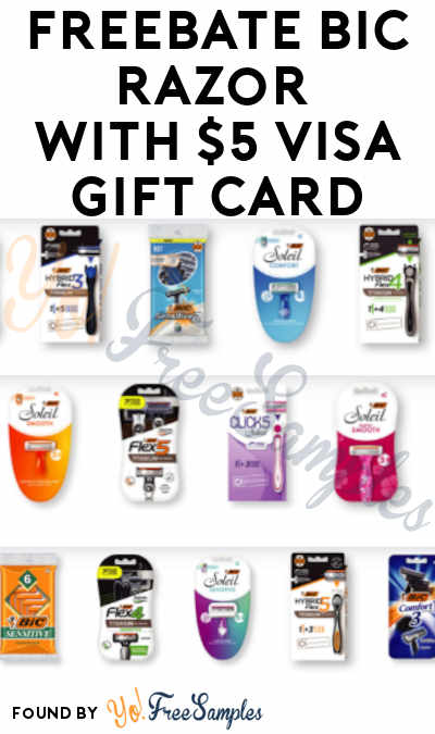 FREEBATE BIC Razors with $5 Visa Gift Card