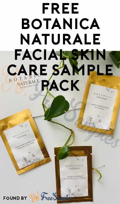 FREE Botanica Naturale Facial Skin Care Sample Pack