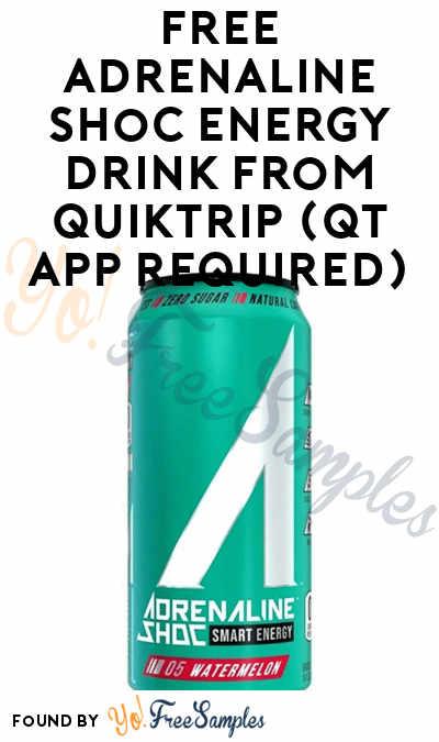 FREE Adrenaline Shoc Energy Drink From QuikTrip (QT App Required)