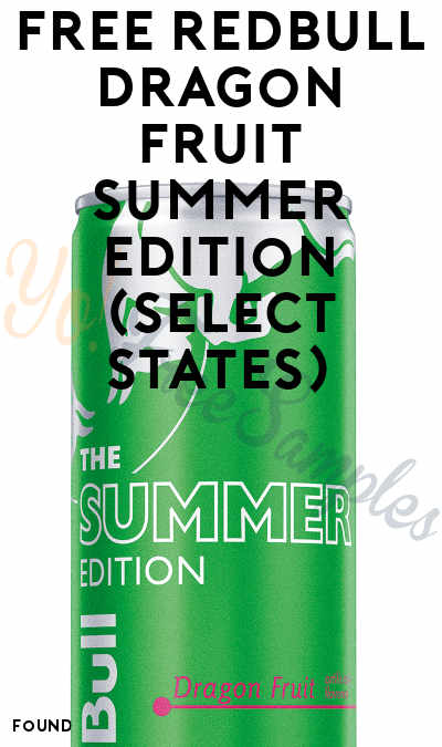 FREE Redbull Dragon Fruit Summer Edition (Select States)