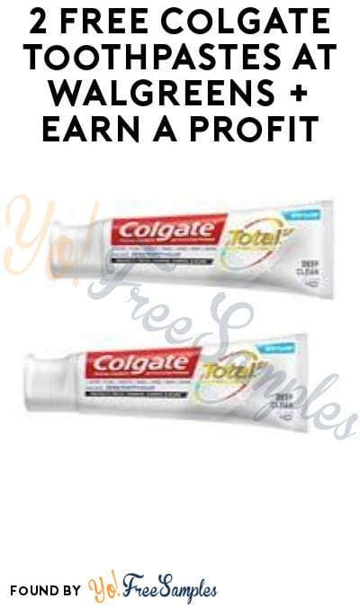2 FREE Colgate Toothpastes at Walgreens + Earn A Profit (Rewards Card Required)