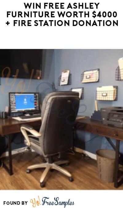 Win FREE Ashley Furniture worth $4,000 + Fire Station Donation