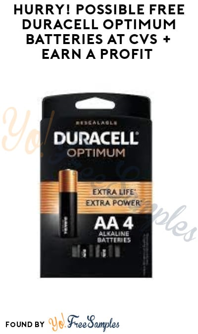 FREE Duracell Optimum Batteries at CVS + Earn A Profit (Coupon/ App Required)
