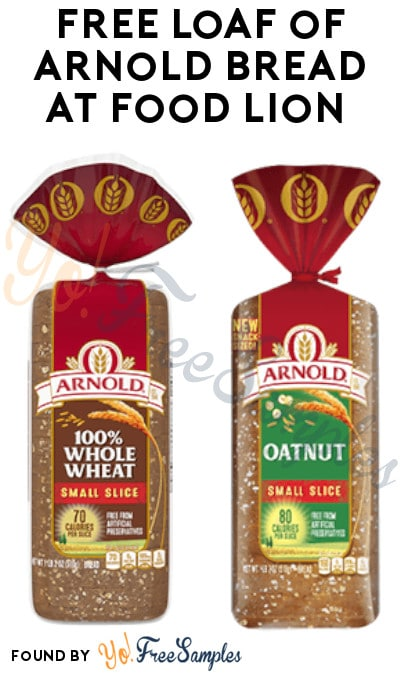 FREE Loaf of Arnold Bread at Food Lion (Food Lion MVP Members/ Coupon Required)