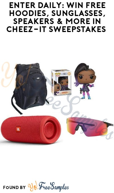 Enter Daily: Win FREE Hoodies, Sunglasses, Speakers & More in Cheez-It Sweepstakes