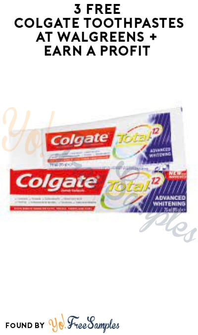 3 FREE Colgate Toothpastes at Walgreens + Earn A Profit (Rewards Card Required)