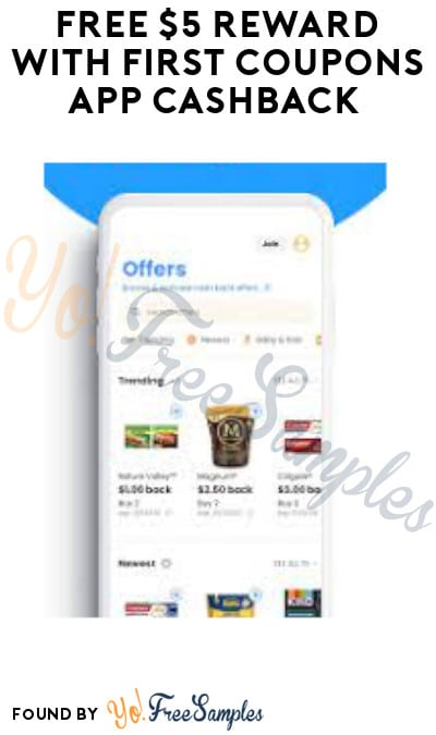 FREE $5 Reward with First Coupons App Cashback (PayPal Required)