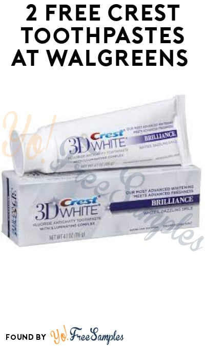 2 FREE Crest Toothpastes at Walgreens (Rewards Required)