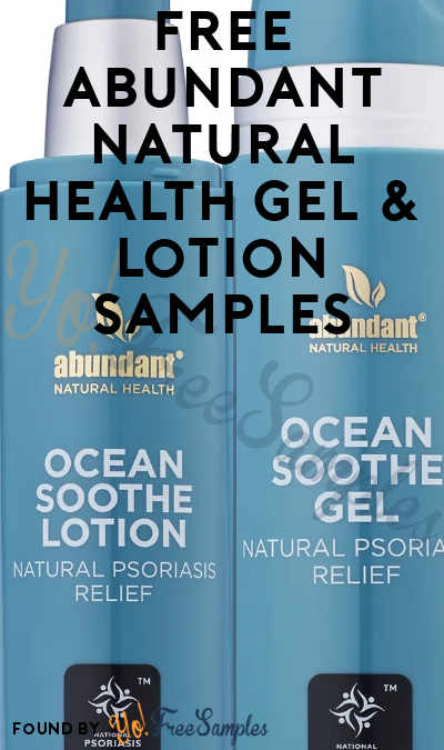 FREE Abundant Natural Health Gel & Lotion Samples