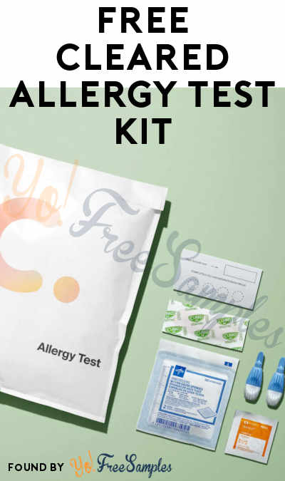FREE Cleared Allergy Test Kit
