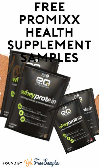 FREE PROMiXX Health Supplement Samples (Review Required)