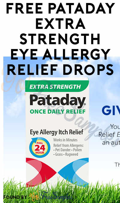 FREE Pataday Extra Strength Eye Allergy Relief Drops