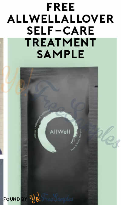 FREE allwellallover Self-Care Treatment Sample
