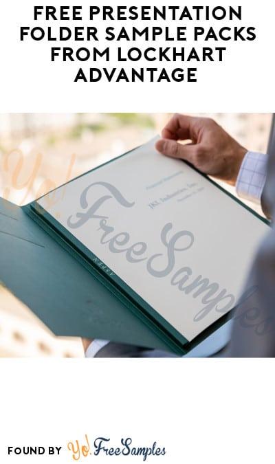 FREE Presentation Folder Sample Packs from Lockhart Advantage