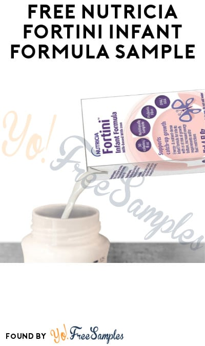 FREE Nutricia Fortini Infant Formula Sample