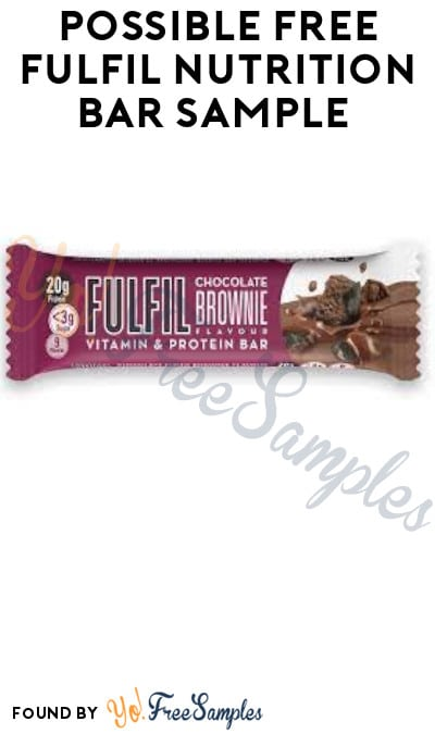 Possible FREE Fulfil Nutrition Bar Sample (Facebook Required)