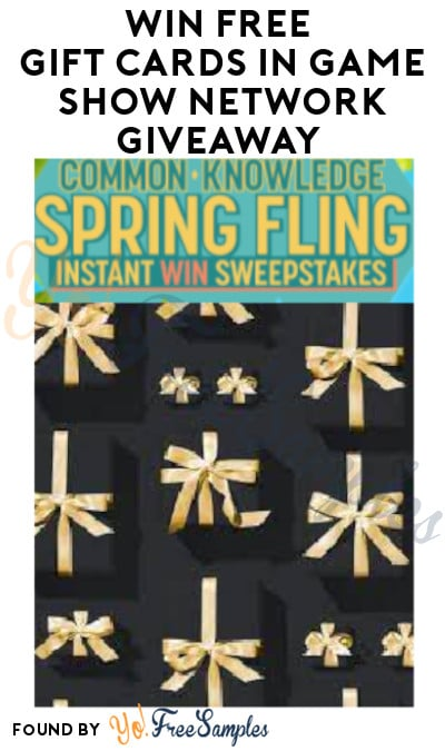 Win FREE Gift Cards in Game Show Network Giveaway