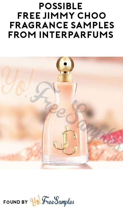 Possible FREE Jimmy Choo Fragrance Samples from Interparfums (Facebook Required)