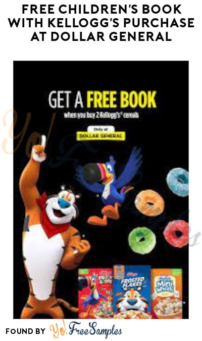 FREE Children's Book with Kellogg's Purchase at Dollar General (Rewards Required)