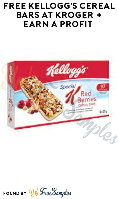 FREE Kellogg's Cereal Bars at Kroger + Earn A Profit (Account & Ibotta Required)