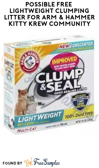 Possible FREE Lightweight Clumping Litter for Arm & Hammer Kitty Krew Community