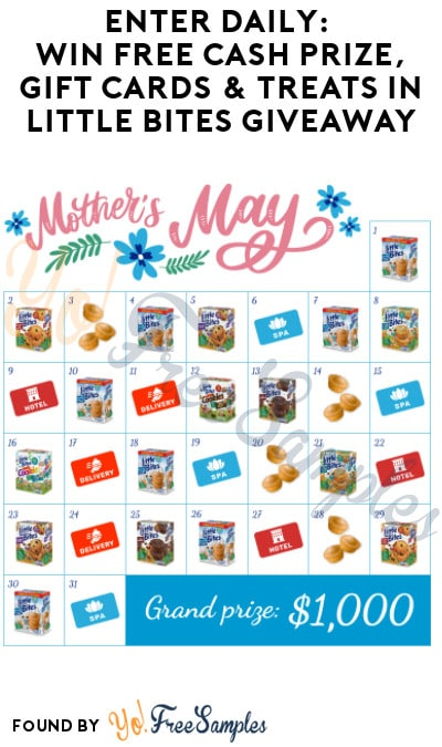 Enter Daily: Win FREE Cash Prize, Gift Cards & Treats in Little Bites Giveaway
