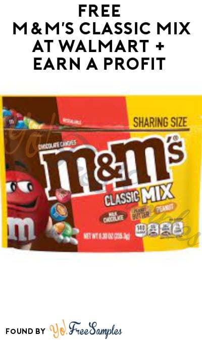 FREE M&M's Classic Mix at Walmart + Earn A Profit (Shopkick Required)