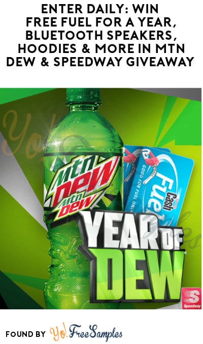 Enter Daily: Win FREE Fuel for a Year, Bluetooth Speakers, Hoodies & More in MTN Dew & Speedway Giveaway (Select States Only)