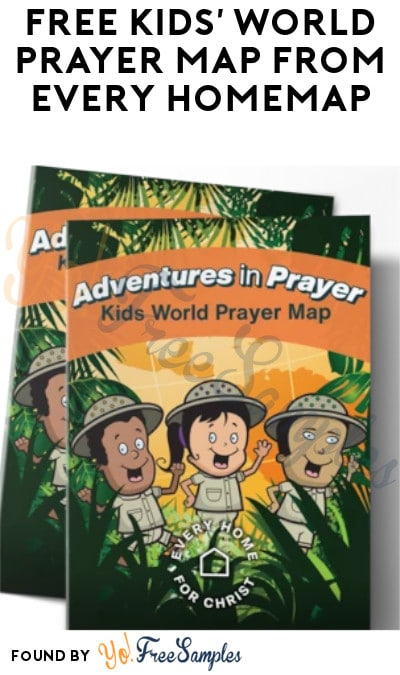 FREE Kids' World Prayer Map from Every Home