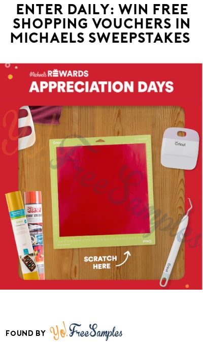Enter Daily: Win FREE Shopping Vouchers in Michaels Sweepstakes