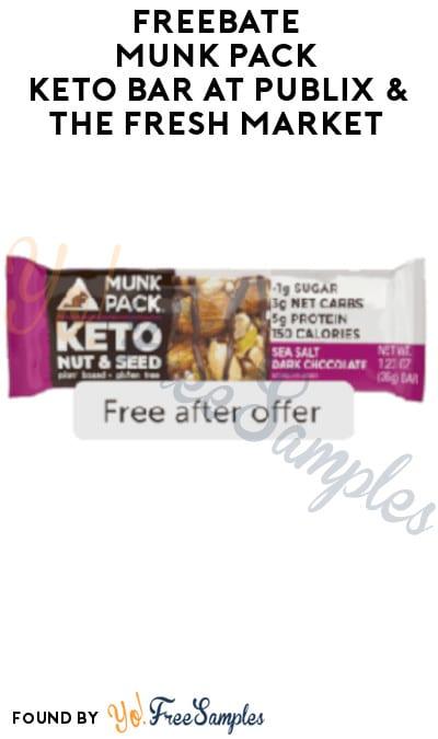 FREEBATE Munk Pack Keto Bar at Publix & The Fresh Market (Ibotta Required)