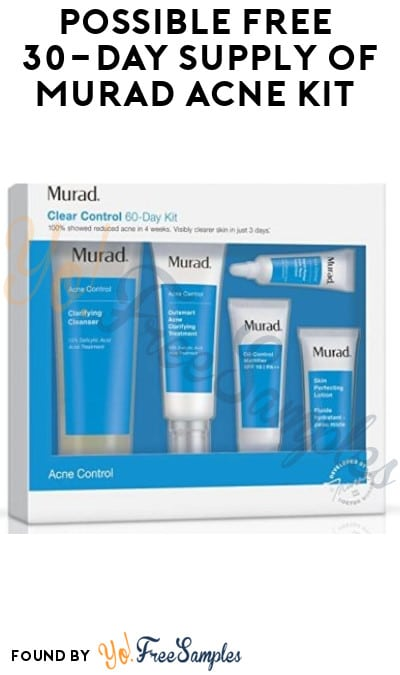 FREE 30-Day Supply of Murad Acne Kit (Instagram Required)