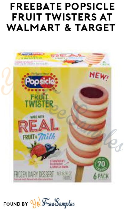 FREEBATE Popsicle Fruit Twisters at Walmart & Target (Coupon + Fetch Rewards Required)