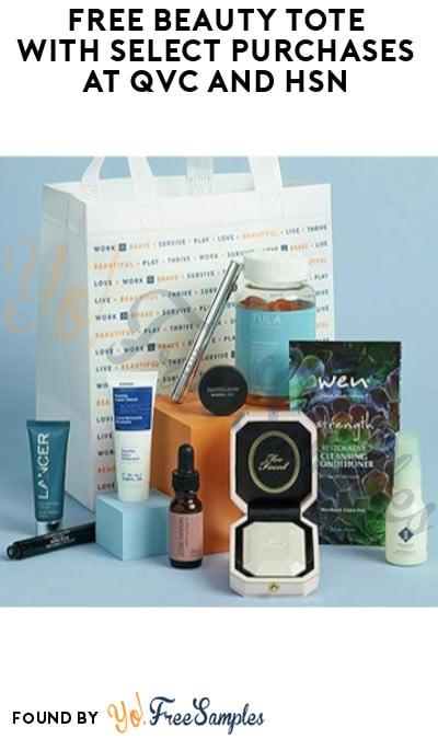 FREE Beauty Tote with Select Purchases at QVC and HSN (Online Only)