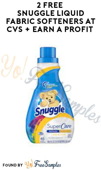 2 FREE Snuggle Liquid Fabric Softeners at CVS + Earn A Profit (App/ Account & Coupon Required)