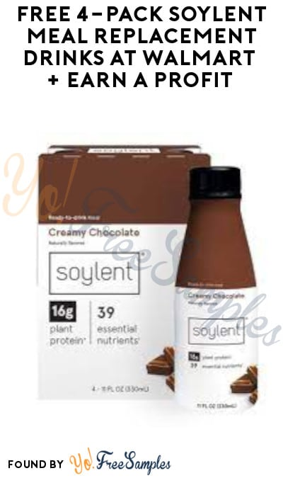 FREE 4-Pack Soylent Meal Replacement Drinks at Walmart + Earn A Profit (Swagbucks Required)