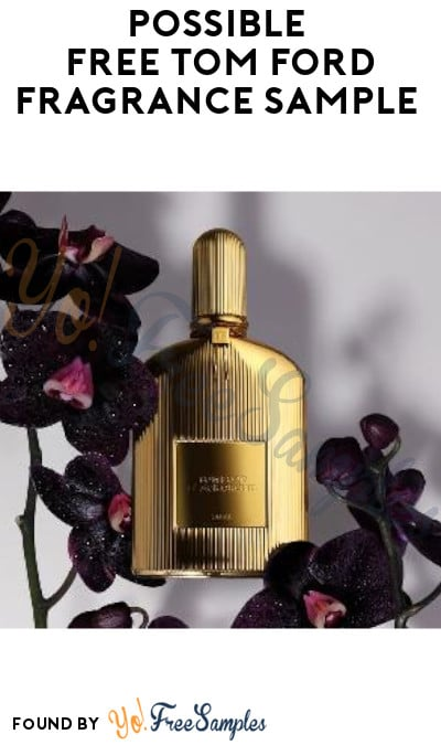 Possible FREE Tom Ford Fragrance Sample (Facebook Required)