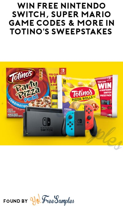 Win FREE Nintendo Switch, Super Mario Game Codes & More in Totino's Sweepstakes